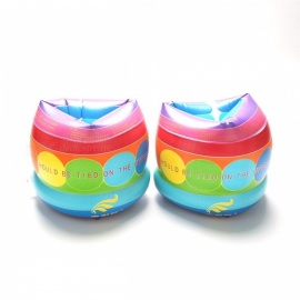 Rainbow Cylinder Thicken PVC Swimming Floating Arm Circle Swim Buoy Arm Rings For Kids Children Aid Float Pool Floats Multi