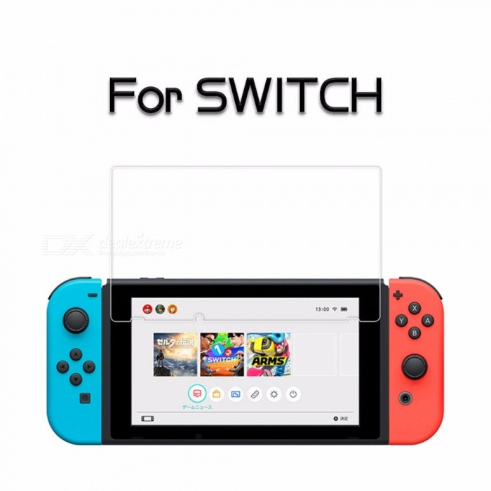 Nintendo Switch Games Electroplating Anti-fingerprint Tempered Glass Screen Protector 9H Film Clear