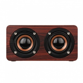 Rosewood Wood Bluetooth Stereo Speaker Support TF Card
