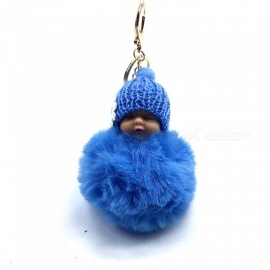 Fluffy Cute Kid Bag Key Chain Pendant