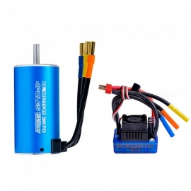 3670 2150KV  4 poles Sensorless Brushless Motor with 80A Brushless ESC for 1/8 RC Car and Truck