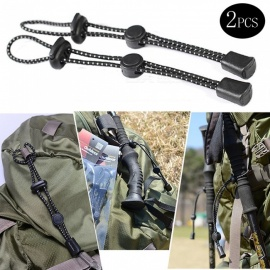 Outdoor Trekking Pole Rope Buckle, Elastic Backpack Fixed Rope Buckle (2 PCS)