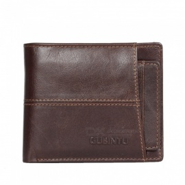 GUBINTU menns stilige folding split leather lommebok