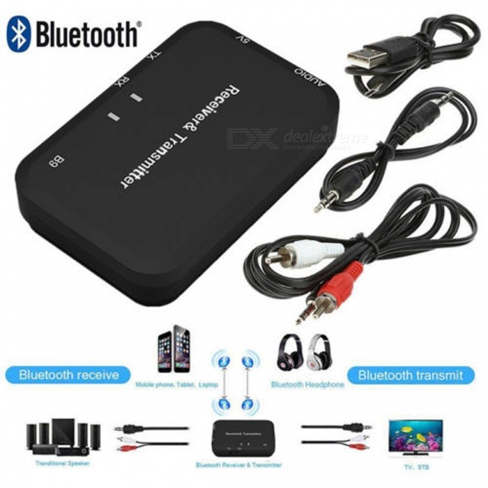 iPod Black VR-robot 3.5mm Portable Stereo Audio Wireless Bluetooth Transmitter MP3//MP4,USB Power Supply for TV