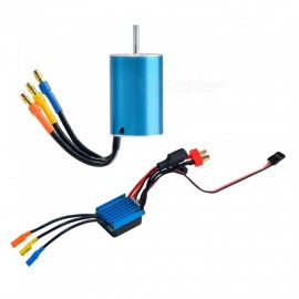 2440 Internal 4-pole Senseless Brushless Motor Shaft 2.3mm  4000KV +35A Brushless ESC Electronic Speed Controller for RC Car