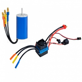 2440 Internal 4-pole Senseless Brushless Motor Shaft 2.3mm 6800KV +60A Brushless ESC Electronic Speed Controller for RC Car