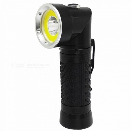 90 Degrees Aluminium Alloy 18650 Flashlight with Warm White + Red LED for Outdoor / Night