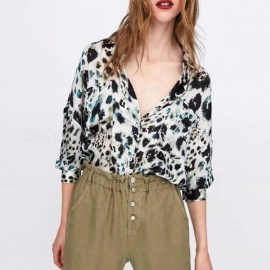 Spring-Autumn-Animal-Leopard-Pattern-Printing-Long-Sleeve-Womens-Blouse-Shirt-Tops-LeopardS
