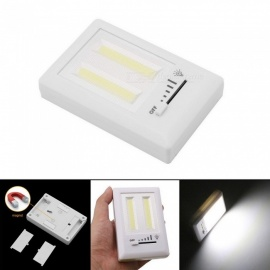 2*COB Adjustable Switch Corridor Cabinet Lights With Strong Magnet Emergency Night Light White/White
