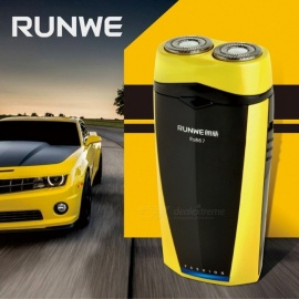 RUNWE-RS867-Rechargeable-Electric-Razors-USB-Rechargeable-Rotary-Double-Blade-Electric-Shavers-Brand-Shaving-For-Men-Yellow