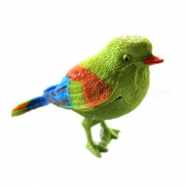 Voice Control Music Bird Toy Simulation Cute Sing Song Bird Doll Funny Electronic Pet Cage Decoration Toys Green