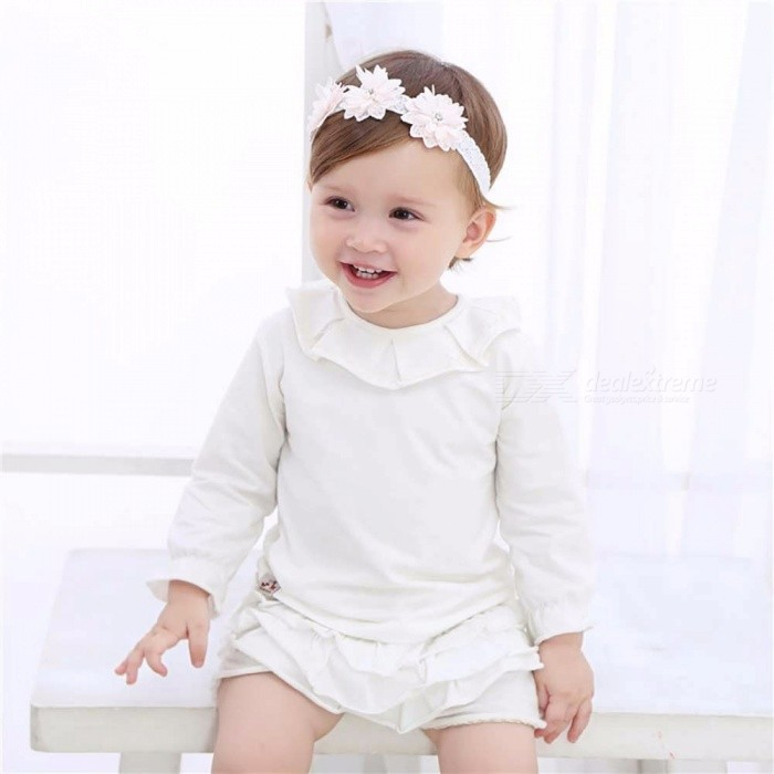 d08619df592 Fashion Toddler Headband Children  s Cute Baby Band Lace Flowers Girl  Elastic Bands Headwear