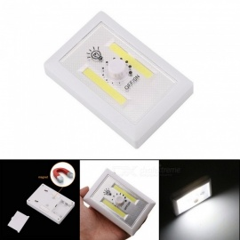 Portable COB LED Emergency Light, Cabinet Lamp With Rotary Switch For Indoor Lighting White/White