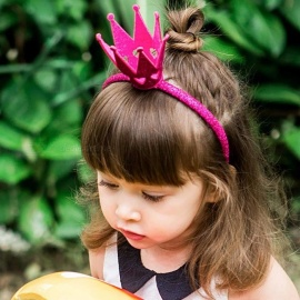 Crown Headgear Baby Hair Band Girls Three-dimensional Crown Hairbands Party Hair Accessories Gold
