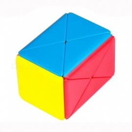 Stickerless Skew Magic Cube, Container Speed Puzzle Cube Educational Toy For Kids Children