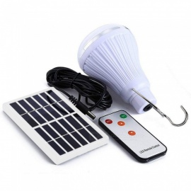 Youoklight Dimmable Solar Panel Powered Light Lamp With Remote Controller For Garden Yard Camping Hiking Outdoor Use