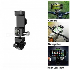 Universal Multifunction Bike Compass Stand with LED Light Phone Navigation Bracket Bicycle Adjustable Phone Mount Holder