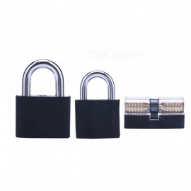 Hakkadeal Three-piece Transparent Practice Lock Set (with Silicone Sleeve)