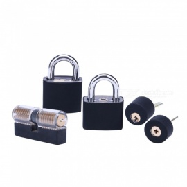 HakkaDeal 5-Piece Transparent Practice Lock Set (With Silicone Sleeve)