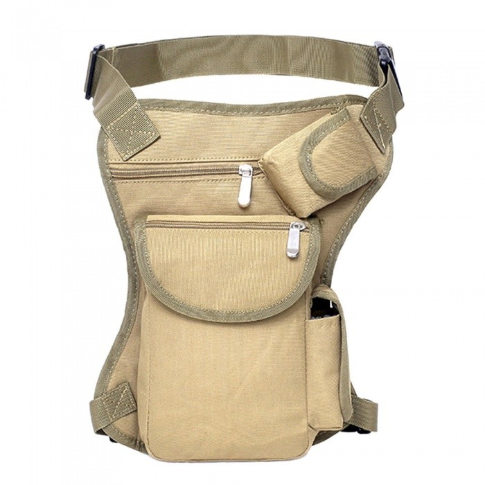 Outdoor-Leisure-Sports-Leg-Bag-Cycling-Canvas-Hiking-Waist-Hanging-Portable-Tactical-Multi-function-Leg-Bag