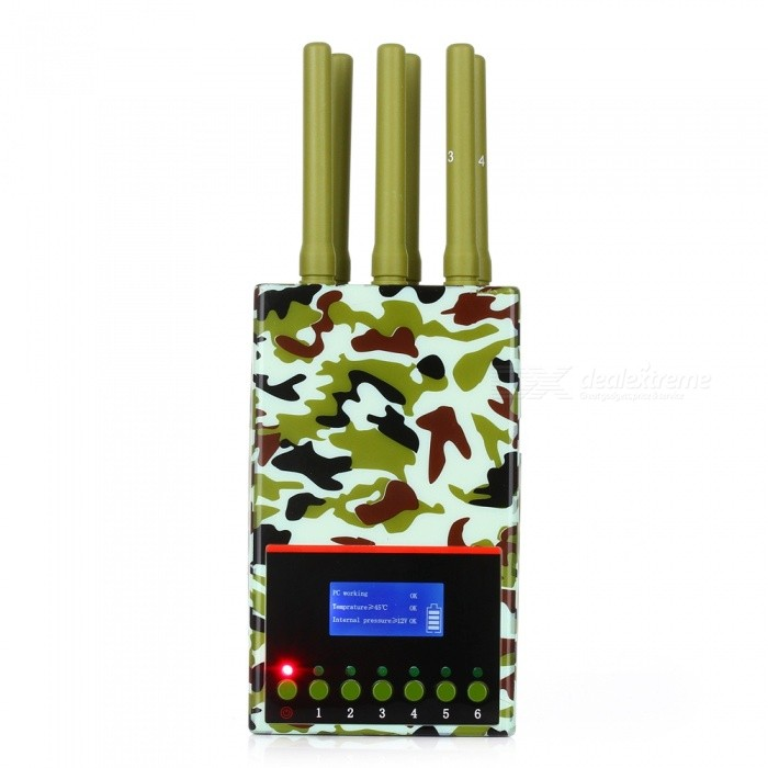 2G 3G 4G WIFI GPS Handset Signal Jammer Detector for Military Industry