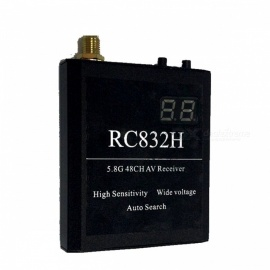 5.8G 48H AV Receiver (High Sensitivity, Wide Voltage Automatic Search for Band Channel Display)