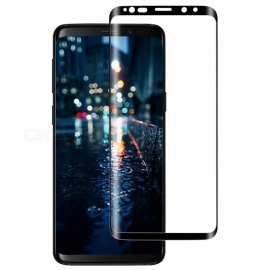 XSUNI 0.2mm Full Screen Curved Tempered Glass Film Screen Protector for Samsung Galaxy S9 plus