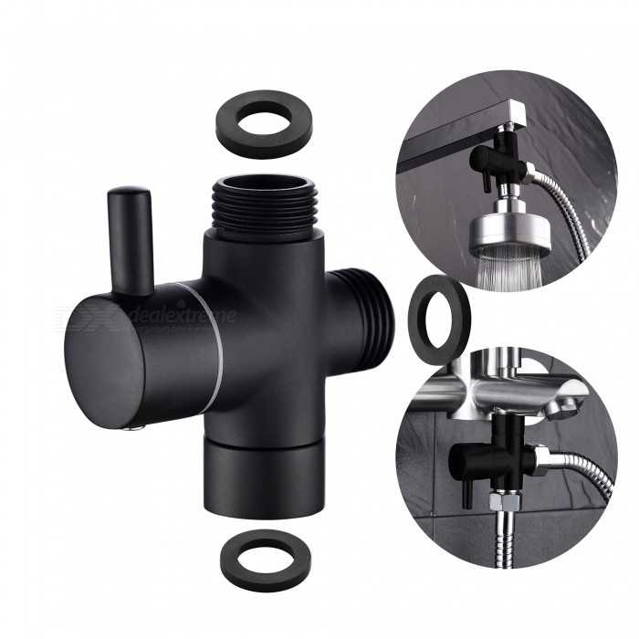 Shower Head Diverter Valve.Ciencia Brass Black 3 Way Diverter Valve For Handheld Shower Head Or Bath Tap