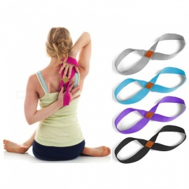 8 Word Yoga Belts Multifunction Resistance Bands Pull Rope Training Chest Expander Gray