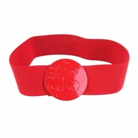Fashion High Quality Solid Red Wide Luxury Female Elastic Waist Belts Waistband For Women White