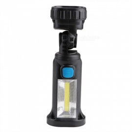 COB LED Strong Lights Rechargeable Adjustable Work Light With Magnets And Hooks 5W/Black