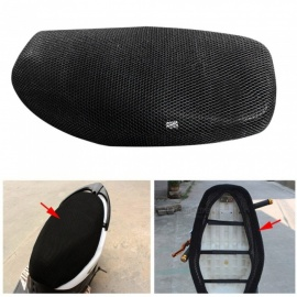 Cool Motorcycle Sunscreen Cover Seat Scooter Waterproof Heat Insulation Cushions S Size 60-68cm Long 40-46cm Wide Black