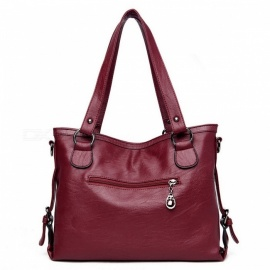 New Korean Version Fashion Simple Two-Piece Bags Set Soft Zipper Solid Color Large Handbags For Women Black