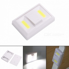 Multifunction COB LED Emergency Night Light Corridor Wall Switch Lights With Strong Magnets White/White