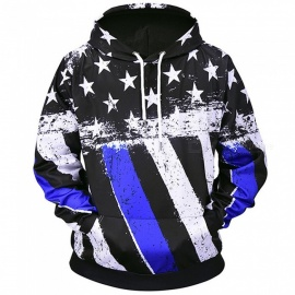 LM807005# Autumn Winter Fashion National Flag Digital Printing Men/Women Hooded Hoodies Cap Windbreaker Jacket 3d Sweatshirts-M
