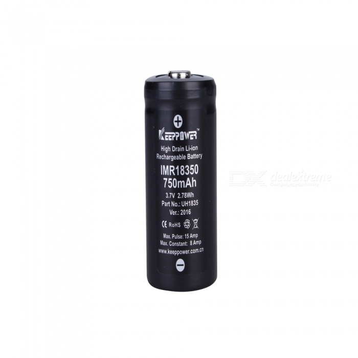 KEEPPOWER IMR18350 750mAh Li-ion Rechargeable Battery