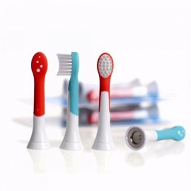 4pcs HX6034 Generic Electric Sonic Replacement Brush Heads Fits For Philips Sonicare Toothbrush Heads Kids Soft Bristle
