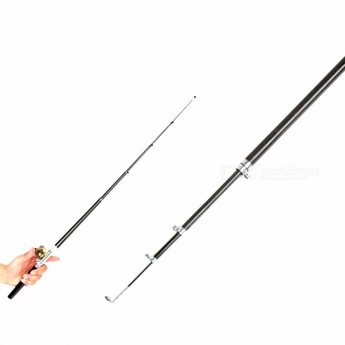 Buy Portable Pocket Telescopic Mini Fishing Pole Pen Shape Folded Fishing Rod With Reel Wheel Red/1m with Litecoins with Free Shipping on Gipsybee.com