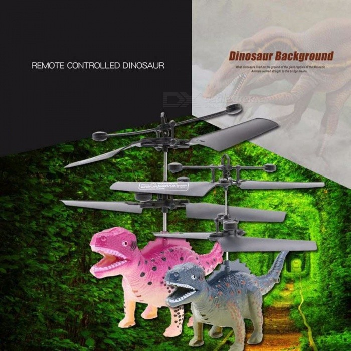 Mini Remote Control Dinosaur Plane, Anti-Scratch Windproof Electronic Aircraft Toy RC Helicopter For Kids
