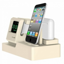 Retro Style 3-in-1 Desktop Charging Bracket Stand for IPHONE, Airpods, Apple Watch