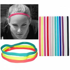 Outdoor Sports Running Fitness Yoga Elastic Headband Anti-slip Candy Color Reflective Head Bands White