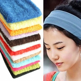 Elastic Headbands Yoga Fitness Women Stretch Hair Bands Candy Color  Girls Running Hair Accessories Random Color