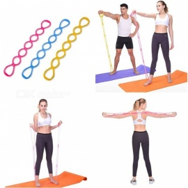 Yoga Tensile Elastic Band Fitness Strength Training Tension Cord Rally Pull Stretched Silicone Rope Random Color