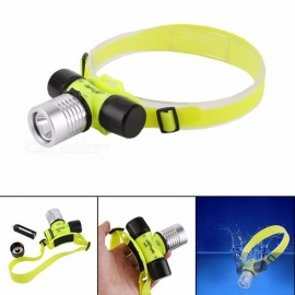 LED Diving Headlamps 18650/3AAA Double Use Battery Outdoor Lighting Waterproof Strong Lights With Magnetic Switch White/Yellow