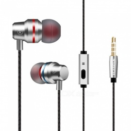 G80 Metal Smart Common Headphones Wired In-Ear Hifi Earbuds Headset For Video Game Phone Black