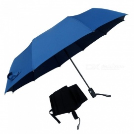 Repel Windproof Travel Umbrella With Teflon Coating Three-folding Sunny And Rainy Umbrellas Navy Blue