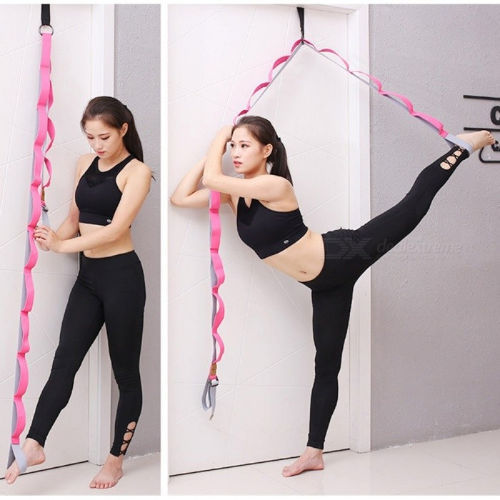 Buy Yoga Fitness Stretch Belt Leg Lacing Band Leg Training Stovepipe Word Horse Aerobics Yoga Tension Band Pink with Litecoins with Free Shipping on Gipsybee.com