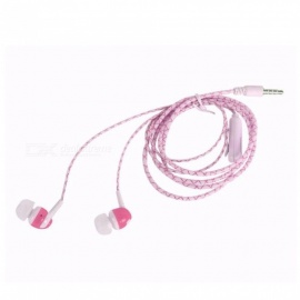 Universal 3.5mm Wired In-Ear Earphone, Super Bass Sound Luminous Earbuds Headset With Mic For Computer Mobile Phones Yellow