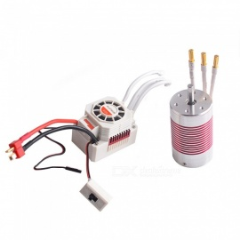 3665 2600KV Waterproof Brushless Motor + 60A ESC Set for 1/10 1/8 RC Remote Control Car Boat Truck