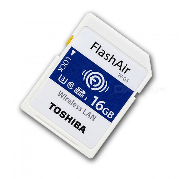 Toshiba FlashAir Wireless LAN W-04 SDHC 16G U3 Class10 Memory Card,  R:90MB/s, W: 70MB/s